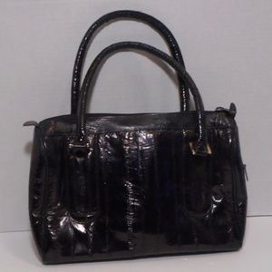 Genuine eel skin leather handbag
